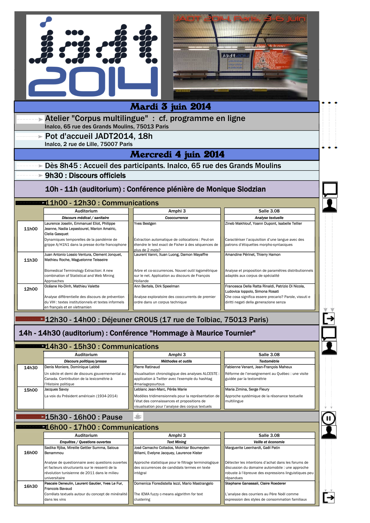 Programme JADT2014