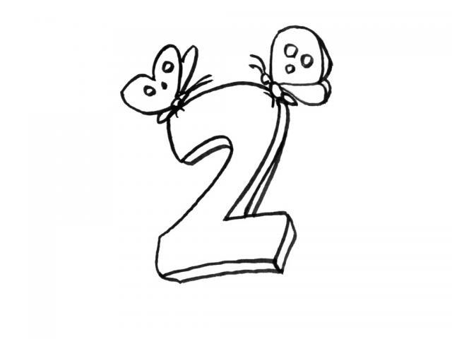 Раскраски цифра 2